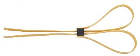 Kunststoffhandschellen, 10 St./P., 550×12,5mm, gelb