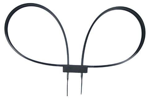 Kunststoffhandschellen, 10 St./P., 800×12,7mm, schwarz, Handschellen